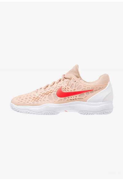 Nike AIR ZOOM CAGE 3 HC - Chaussures de tennis sur terre battue bio beige/bright crimson/phantom/white liquidation