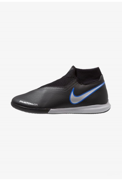 Nike PHANTOM OBRAX 3 ACADEMY DF IC - Chaussures de foot en salle black/metallic silver/racer blue liquidation