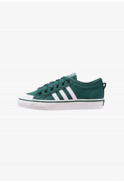 Adidas NIZZA - Baskets basses collegiate green/footwear white/crystal white pas cher