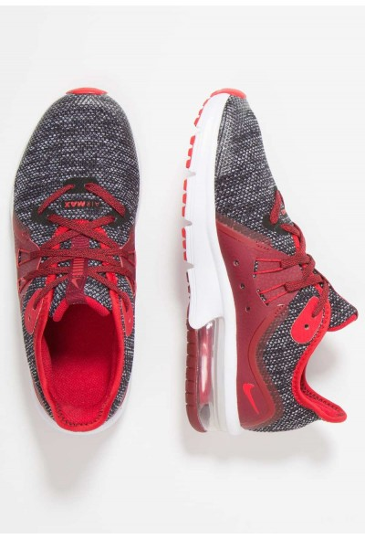 Nike AIR MAX SEQUENT 3 - Chaussures de running neutres black/universal red/white/team red liquidation