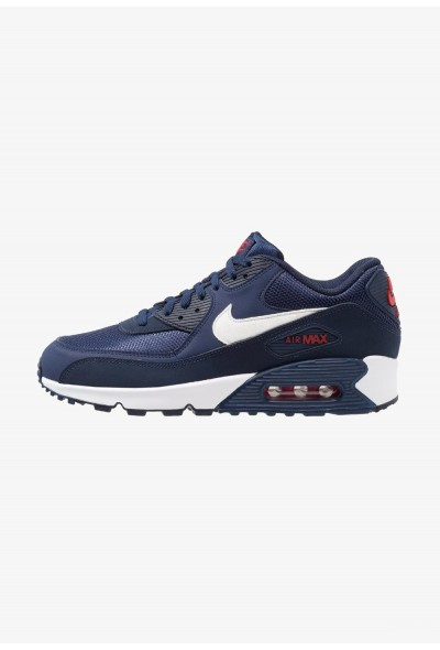 Nike AIR MAX 90 ESSENTIAL - Baskets basses midnight navy/white/university red/obsidian liquidation