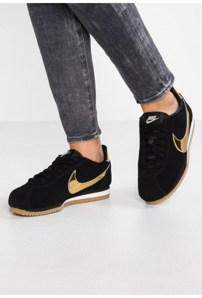 Nike CLASSIC CORTEZ SE - Baskets basses black/metallic gold/phantom/light brown liquidation