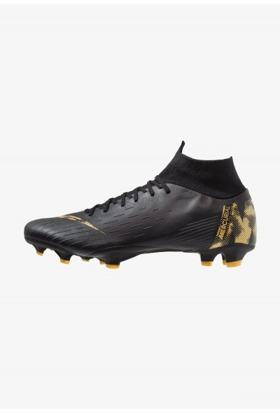 Nike MERCURIAL 6 PRO FG - Chaussures de foot à crampons black/metallic vivid gold liquidation