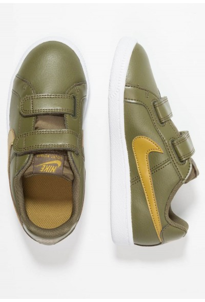 Nike COURT ROYALE (PSV) - Baskets basses olive/golden moss/white liquidation