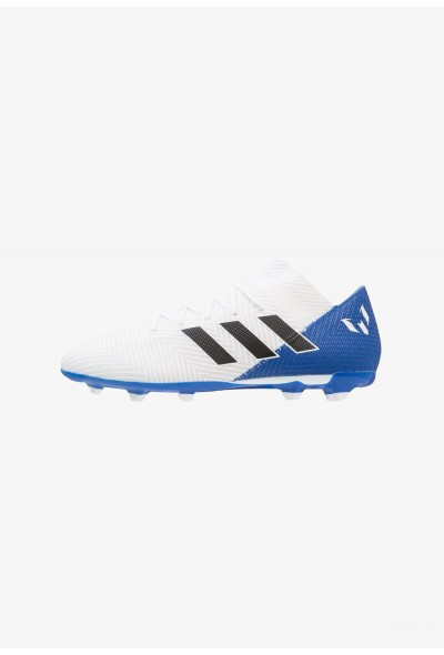 Adidas NEMEZIZ MESSI 18.3 FG - Chaussures de foot à crampons footwear white/core black/blue pas cher