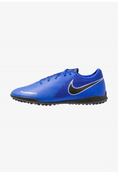 Nike PHANTOM  VSN ACADEMY TF - Chaussures de foot multicrampons racer blue/black/metallic silver/volt/white liquidation
