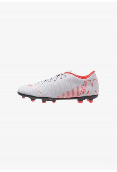 Nike MERCURIAL VAPOR 12 CLUB MG - Chaussures de foot à crampons wolf grey/light crimson/black liquidation