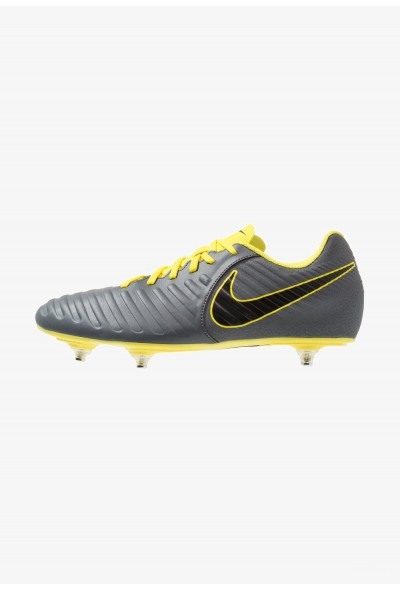 Nike TIEMPO LEGEND 7 CLUB SG - Chaussures de foot à lamelles dark grey/black/optic yellow liquidation