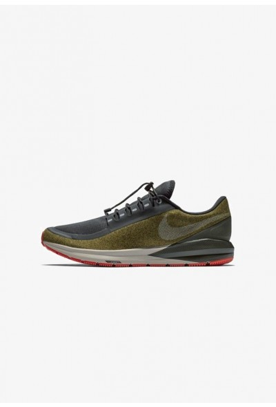 Nike AIR ZOOM STRUCTURE 22 SHIELD - Chaussures de running stables olive flak/black/string/metallic silver liquidation