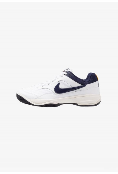 Nike COURT LITE - Baskets tout terrain white/blackened blue/phantom/orange peel liquidation