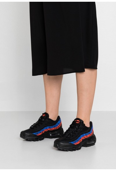 Nike AIR MAX 95 - Baskets basses black/habanero red/racer blue liquidation
