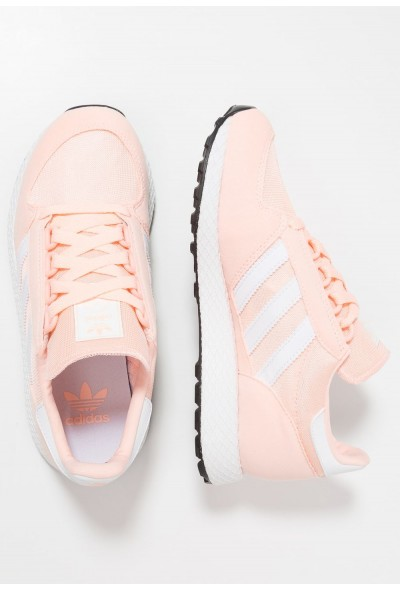 Black Friday 2019 | Adidas FOREST GROVE - Baskets basses clear orange/footwear white pas cher