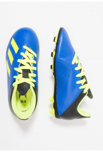 Adidas X 18.4 FXG - Chaussures de foot à crampons football blue/solar yellow/core black pas cher