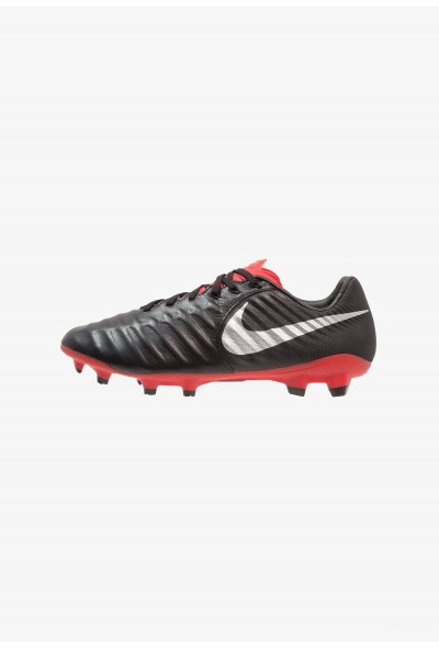 Nike TIEMPO LEGEND 7 PRO FG - Chaussures de foot à crampons black/metallic silver/light crimson liquidation