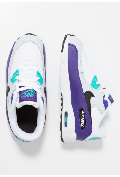 Nike AIR MAX 90  - Baskets basses white/black/hyper jade/court purple/pure platinum liquidation