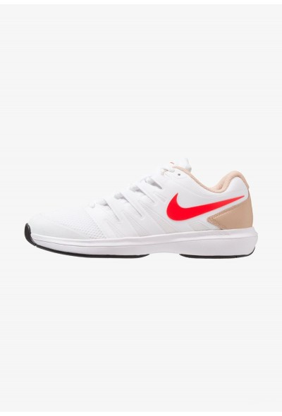 Nike AIR ZOOM PRESTIGE HC - Baskets tout terrain white/bright crimson/bio beige/black liquidation