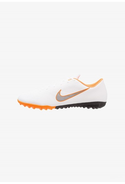 Black Friday 2020 | Nike MERCURIAL VAPORX 12 ACADEMY TF - Chaussures de foot multicrampons white/chrome/total orange liquidation