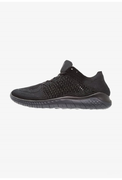 Nike FREE RUN FLYKNIT 2018 - Chaussures de course neutres black/anthracite liquidation