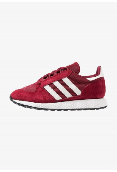 Adidas FOREST GROVE - Baskets basses collegiate burgundy/cloud white/core black  pas cher
