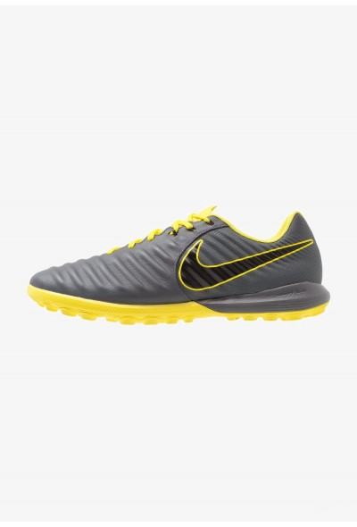 Nike TIEMPO LUNAR LEGENDX 7 PRO TF - Chaussures de foot multicrampons dark grey/black/optic yellow liquidation