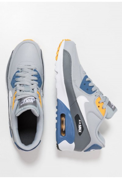Nike AIR MAX 90  - Baskets basses wolf grey/white/indigo storm/university gold liquidation