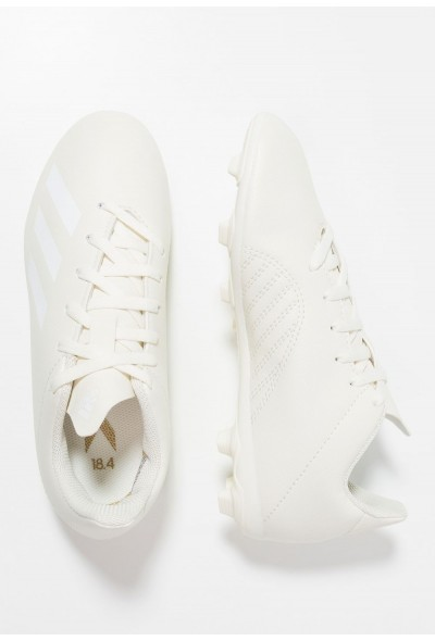 Adidas X 18.4 FXG - Chaussures de foot à crampons offwhite/footwear white/gold metallic pas cher