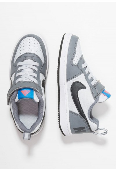 Nike COURT BOROUGH - Baskets basses cool grey/anthracite/pure platinum/photo blue liquidation