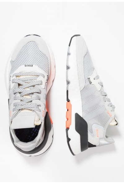 Adidas NITE JOGGER  - Baskets basses grey two/grey three/solar orange pas cher