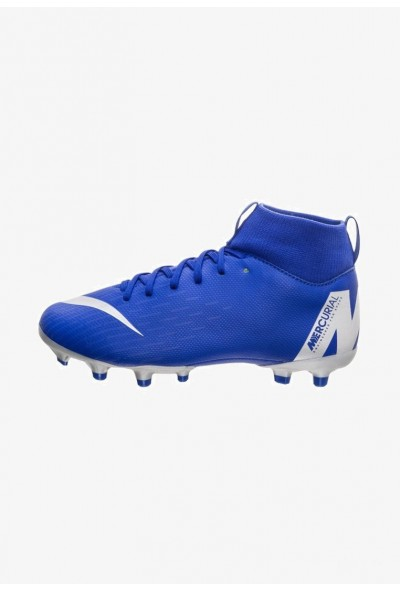 Nike MERCURIAL 6 ACADEMY MG - Chaussures de foot à crampons royal blue/silver liquidation