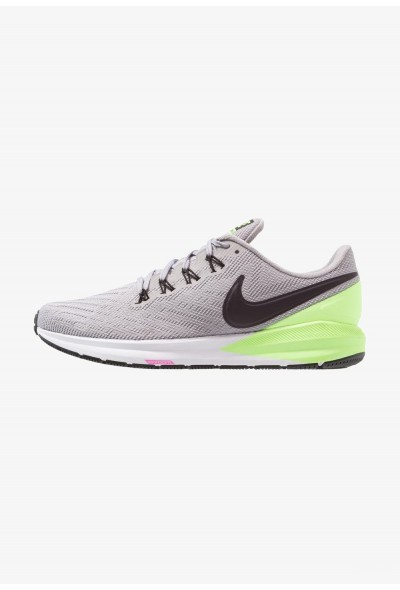 Nike AIR ZOOM STRUCTURE  - Chaussures de running stables atmosphere grey/burgundy ash/lime blast/black/laser fuchsia/white liquidation
