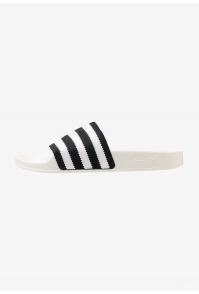 Adidas ADILETTE - Mules core black/footwear white/offwhite pas cher