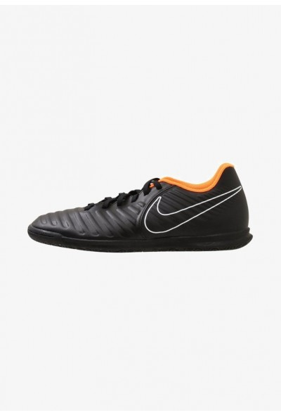 Nike TIEMPO LEGENDX 7 CLUB IC - Chaussures de foot en salle black/total orange/black/white liquidation