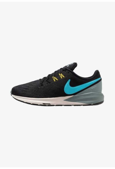 Black Friday 2020 | Nike AIR ZOOM STRUCTURE  - Chaussures de running stables black/blue fury/aviator grey/bright citron/light orewood brown liquidation
