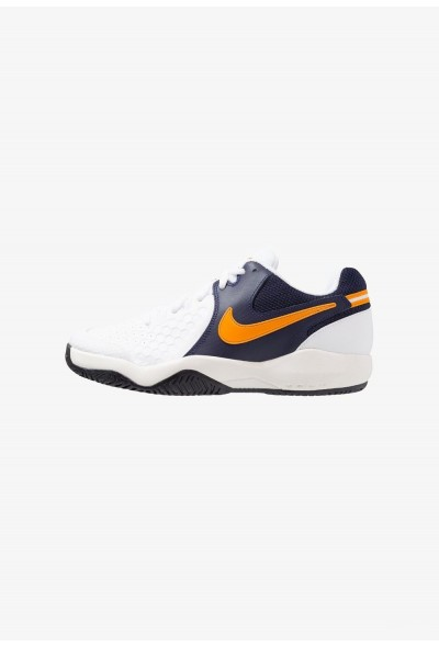 Nike AIR ZOOM RESISTANCE - Chaussures de tennis sur terre battue white/orange peel/blackened blue/phantom liquidation