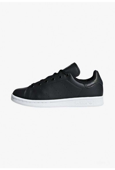 Adidas STAN SMITH SHOES - Baskets basses black/white pas cher