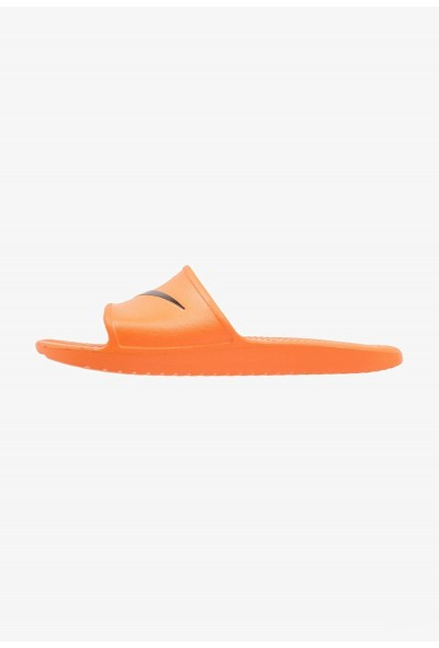 Nike KAWA SHOWER - Sandales de bain solar orange/black liquidation