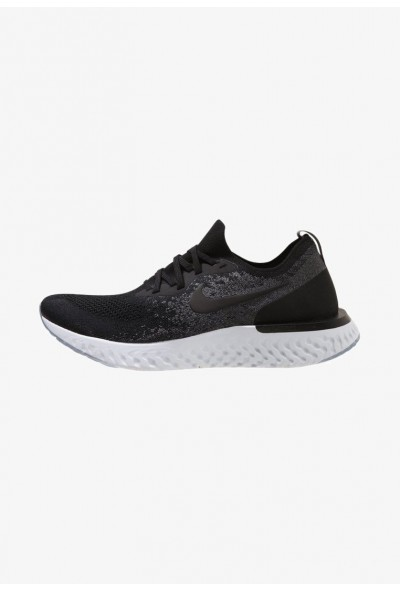 Nike EPIC REACT FLYKNIT - Chaussures de running neutres black/dark grey/pure platinum liquidation