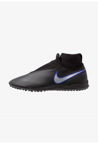 Black Friday 2020 | Nike PHANTOM REACT OBRA PRO TF - Chaussures de foot multicrampons black/metallic silver/racer blue liquidation