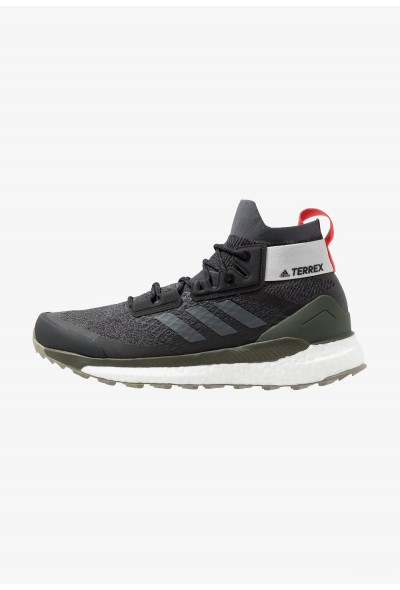 Adidas TERREX FREE HIKER - Chaussures de marche core black/grey six/night cargo pas cher