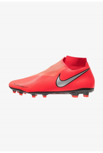 Nike PHANTOM OBRA 3 ACADEMY DF MG - Chaussures de foot à crampons bright crimson/metallic silver/university red/black liquidation