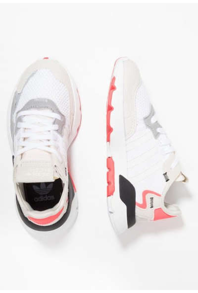Adidas NITE JOGGER - Baskets basses footwear white/crystal white/shock red pas cher
