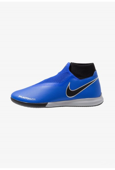 Nike PHANTOM OBRAX 3 ACADEMY DF IC - Chaussures de foot en salle racer blue/black/metallic silver/volt liquidation