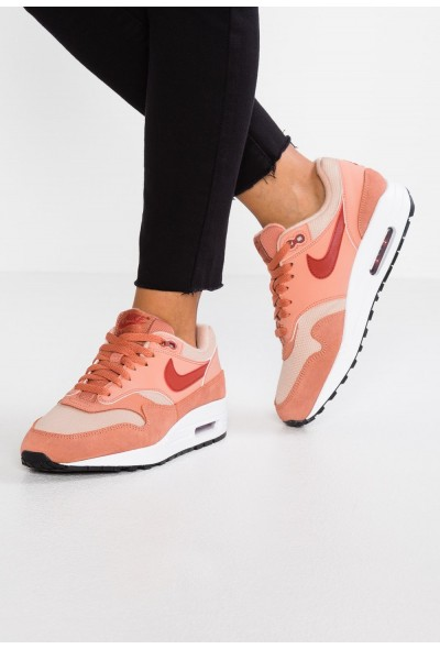 Nike AIR MAX 1 - Baskets basses terra blush/dune red/bio beige/black/white liquidation