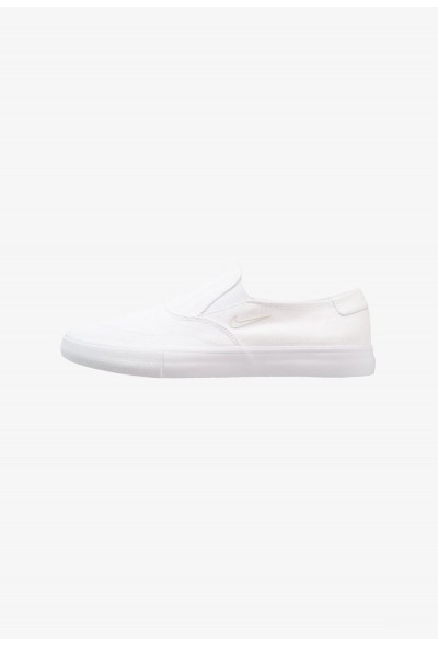 Nike PORTMORE - Mocassins white/light bone liquidation