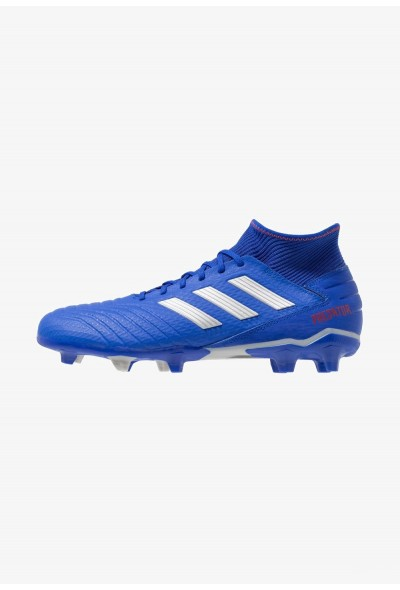 Adidas PREDATOR 19.3 FG - Chaussures de foot à crampons bold blue/silver metallic/active red pas cher