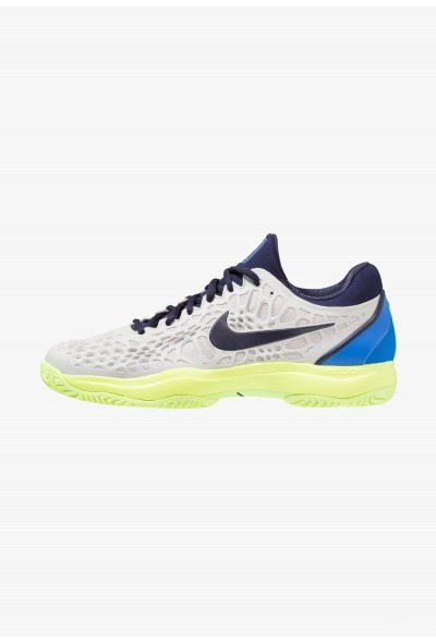 Black Friday 2020 | Nike AIR ZOOM CAGE 3 HC - Chaussures de tennis sur terre battue vast grey/blackened blue/signal blue liquidation