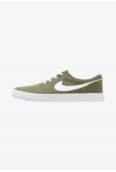 Nike PORTMORE II SS CNVS - Baskets basses med olive/white liquidation