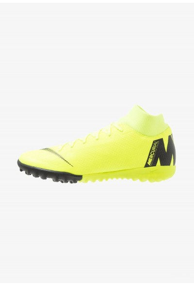 Nike MERCURIAL SUPERFLYX 6 ACADEMY TF - Chaussures de foot multicrampons volt/black liquidation