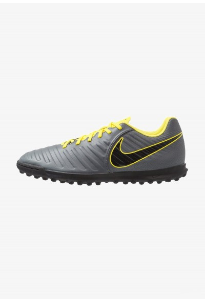 Nike TIEMPO LEGENDX 7 CLUB TF - Chaussures de foot multicrampons dark grey/opti yellow/black liquidation