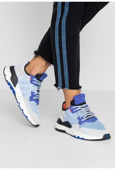 Adidas NITE JOGGER - Baskets basses glow blue/blue tint pas cher